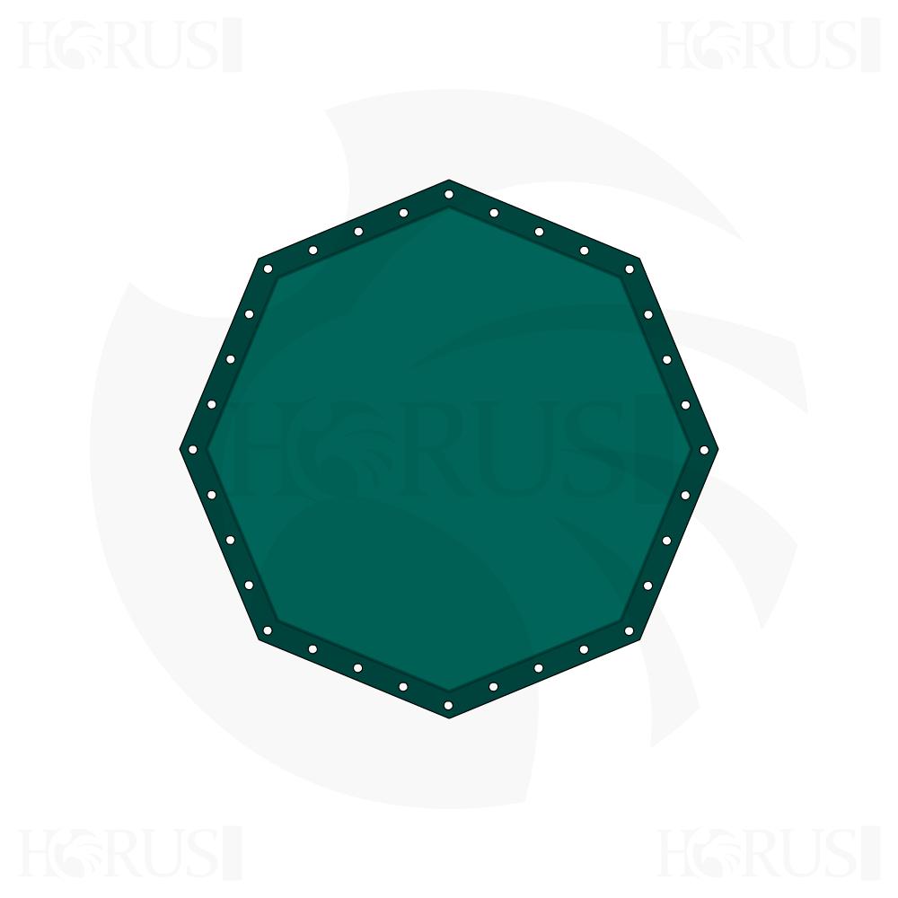 Bâche plate octogonale sur mesure