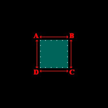 Bâche plate rectangle sur mesure